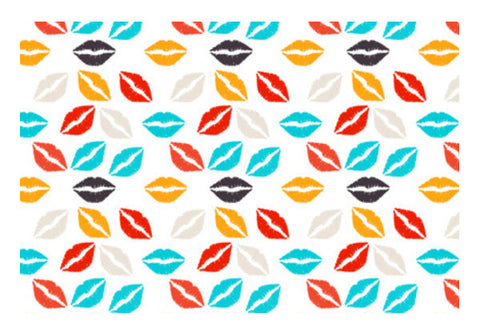 Glamour Fashion Lips Pattern Art PosterGully Specials
