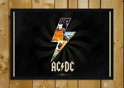 Glass Framed Posters, ACDC 1973 Glass Framed Poster, - PosterGully - 1