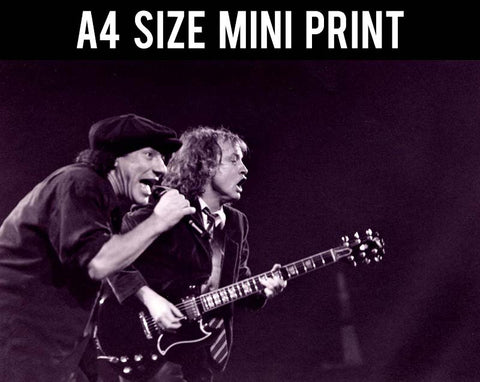 Mini Prints, AC DC | Live in Concert | Mini Print, - PosterGully