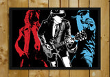Glass Framed Posters, AC DC Red, White & Blue Glass Framed Poster, - PosterGully - 1