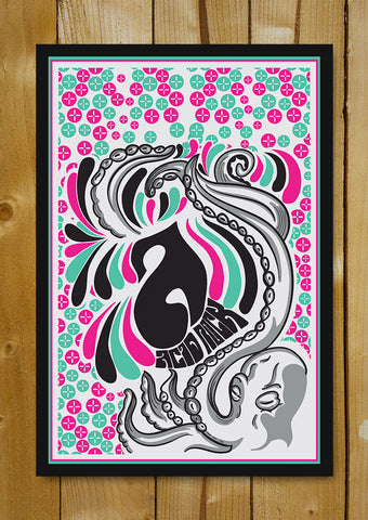 Glass Framed Posters, A For Acid Rock Glass Framed Poster, - PosterGully - 1