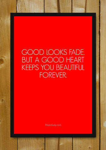 Glass Framed Posters, A Good Heart Glass Framed Poster, - PosterGully - 1