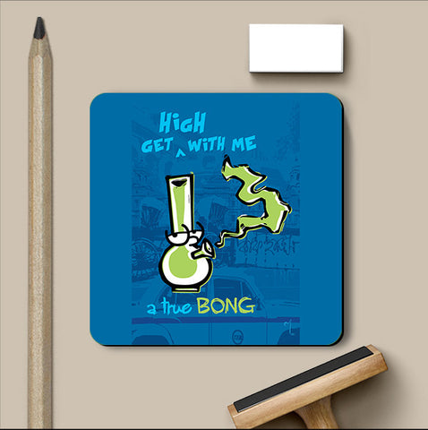 PosterGully Coasters, A True Bong Coaster | Artist: MyArtini Bar, - PosterGully