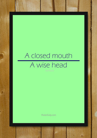 Glass Framed Posters, A Wise Head Glass Framed Poster, - PosterGully - 1