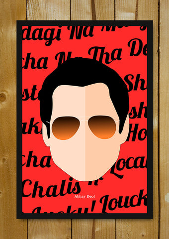 Glass Framed Posters, Abhay Deol Pop Art Glass Framed Poster, - PosterGully - 1