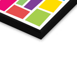 Glass Framed Posters, Abstact Colorful Rectangles Glass Framed Poster, - PosterGully - 2
