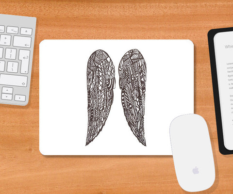 Mousepads, Abstract Angel Wings Mousepad | Artist: Needhi Dhoker, - PosterGully