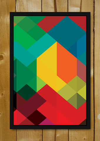 Glass Framed Posters, Abstract Art Glass Framed Poster, - PosterGully - 1