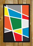 Glass Framed Posters, Abstract Colorful Shapes Glass Framed Poster, - PosterGully - 1