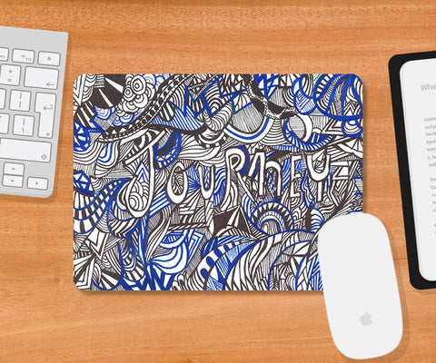 Mousepads, Abstract Journey Doodle Mousepad | Artist: Needhi Dhoker, - PosterGully