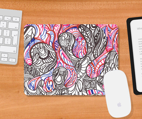 Mousepads, Abstract Sea Octopus Mousepad | Artist: Needhi Dhoker, - PosterGully