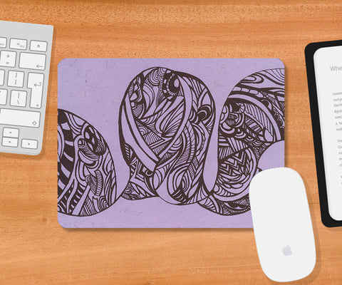 Mousepads, Abstract Sea Waves Mousepad | Artist: Needhi Dhoker, - PosterGully