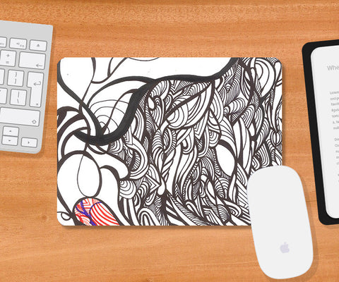 Mousepads, Abstract Spring Season Mousepad | Artist: Needhi Dhoker, - PosterGully