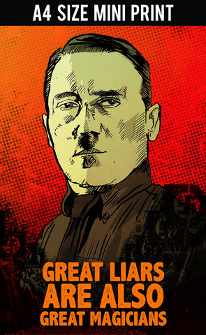 Mini Prints, Adolf Hitler | Great Magicians | Mini Print, - PosterGully