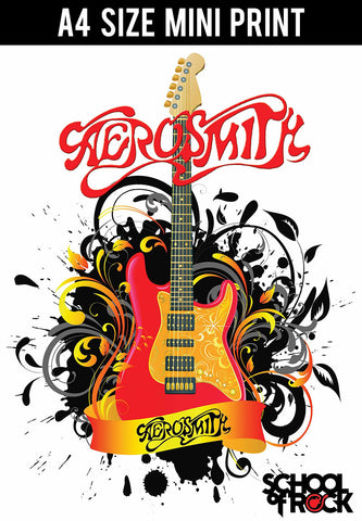 Mini Prints, Aerosmith | School Of Rock | Mini Print, - PosterGully