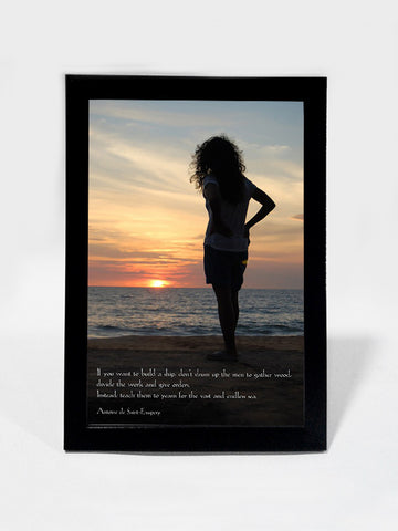 Framed Art, Aim For The Endless Sea | Framed Art, - PosterGully
