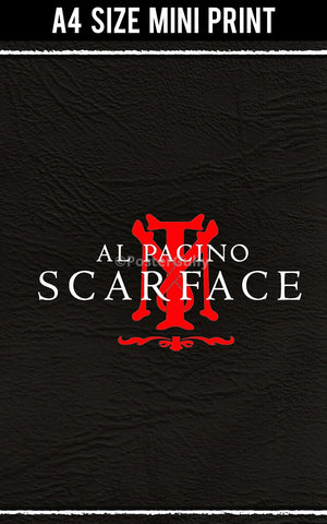 Mini Prints, Al Pacino | Scarface Symbol | Mini Print, - PosterGully