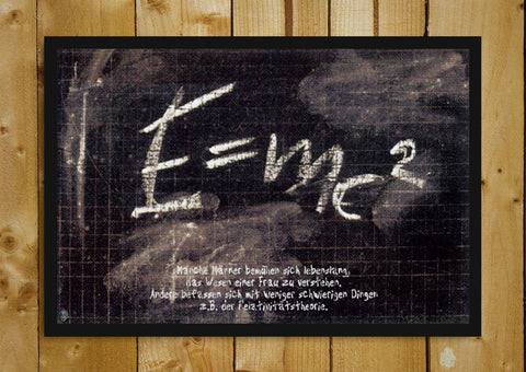 Glass Framed Posters, Albert Einstein E=M{c(square)} Glass Framed Poster, - PosterGully - 1