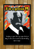 Glass Framed Posters, Albert Einstein Quote I Am A Genius Glass Framed Poster, - PosterGully - 1