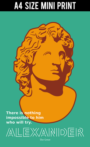 Mini Prints, Alexander Quote | Mini Print, - PosterGully