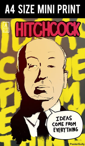 Mini Prints, Alfred Hitchcock | Ideas | Comics | Mini Print, - PosterGully