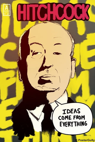 Wall Art, Alfred Hitchcock | Ideas | Comics, - PosterGully