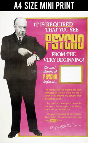 Mini Prints, Alfred Hitchcock | The Psycho | Mini Print, - PosterGully
