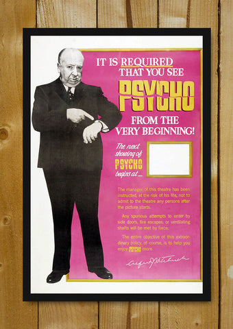 Glass Framed Posters, Alfred Hitchcock The Psycho Glass Framed Poster, - PosterGully - 1