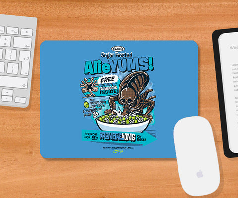 Mousepads, Alieyums - Blue Mousepad | By Captain Kyso, - PosterGully