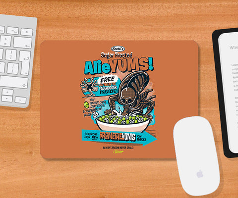 Mousepads, Alieyums - Orange Mousepad | By Captain Kyso, - PosterGully