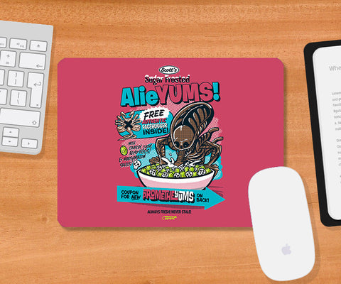 Mousepads, Alieyums - Pink Mousepad | By Captain Kyso, - PosterGully