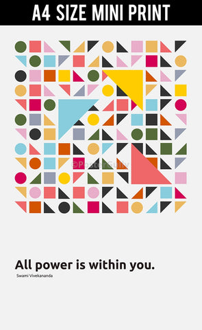 Mini Prints, All Power Is Within You | Swami Vivekananda Quote | Mini Print, - PosterGully