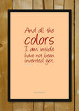 Glass Framed Posters, All The Colours Glass Framed Poster, - PosterGully - 1