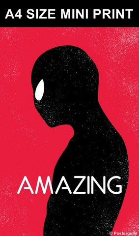 Mini Prints, Amazing Spiderman Minimal | Mini Print, - PosterGully