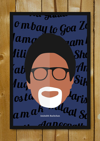 Glass Framed Posters, Amitabh Bachchan Pop Art Glass Framed Poster, - PosterGully - 1