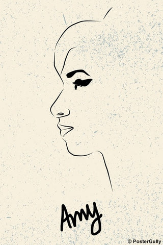 Wall Art, Amy Winehouse Outline, - PosterGully