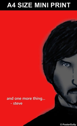 Mini Prints, And One More Thing | Steve Jobs | Mini Print, - PosterGully