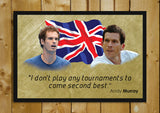 Glass Framed Posters, Andy Murray Quote Glass Framed Poster, - PosterGully - 1