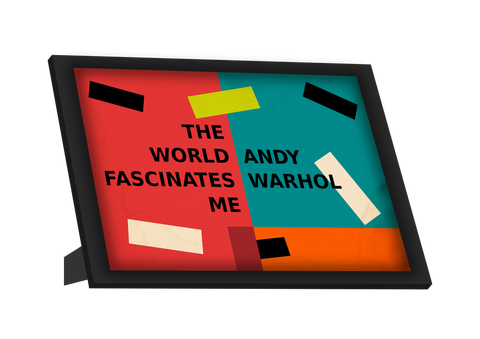 Framed Art, Andy Warhol Quotes | Pop Art Framed Art, - PosterGully