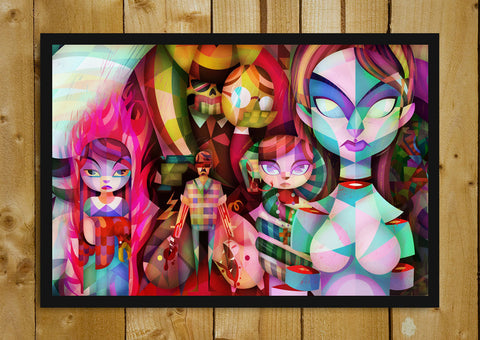 Glass Framed Posters, Anime Abstract Art Glass Framed Poster, - PosterGully - 1