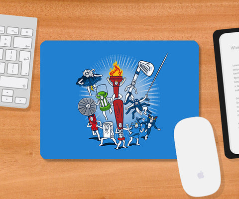 Mousepads, Any Resemblance Light Blue Mousepad | By Captain Kyso, - PosterGully