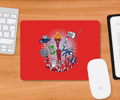 Mousepads, Any Resemblance Red Mousepad | By Captain Kyso, - PosterGully