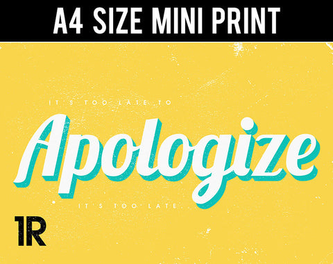 Mini Prints, Apologize | One Republic | Mini Print, - PosterGully