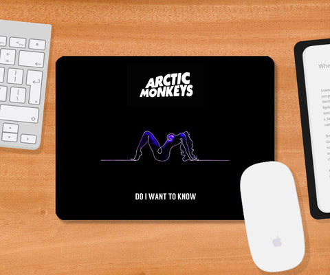 Mousepads, Arctic Monkeys Blue Mousepad | Artist: Devraj Baruah, - PosterGully