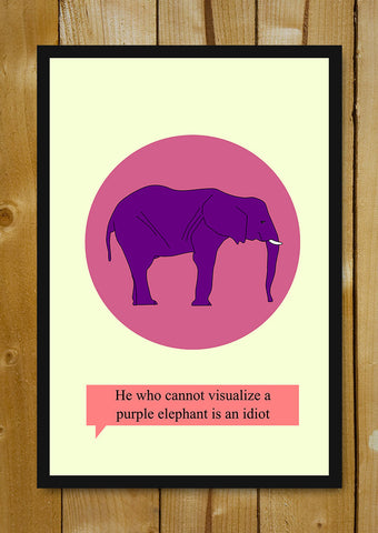 Glass Framed Posters, Are You An Idiot Glass Framed Poster, - PosterGully - 1