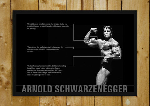 Glass Framed Posters, Arnold Quotes Glass Framed Poster, - PosterGully - 1