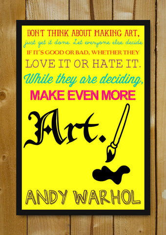Glass Framed Posters, Art Andy Warhol Glass Framed Poster, - PosterGully - 1
