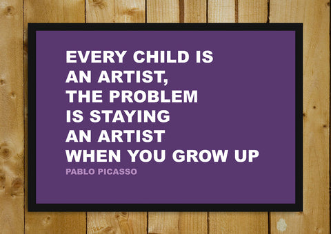 Glass Framed Posters, Artist Pablo Picasso Creativity Quote Glass Framed Poster, - PosterGully - 1