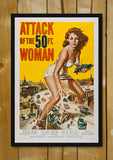 Glass Framed Posters, Attack of the 50 Ft. Woman Glass Framed Poster, - PosterGully - 1
