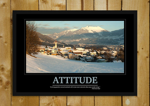 Glass Framed Posters, Attitude Motivational Glass Framed Poster, - PosterGully - 1